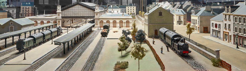 Maquette de l'ancienne gare de Saint-Nazaire.