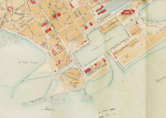Plan de la ville de Saint-Nazaire en 1905.