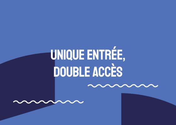 """Ouverture du chapitre """"Unique entrée, double accès"""", exposition Chronique de la vieille entrée."""