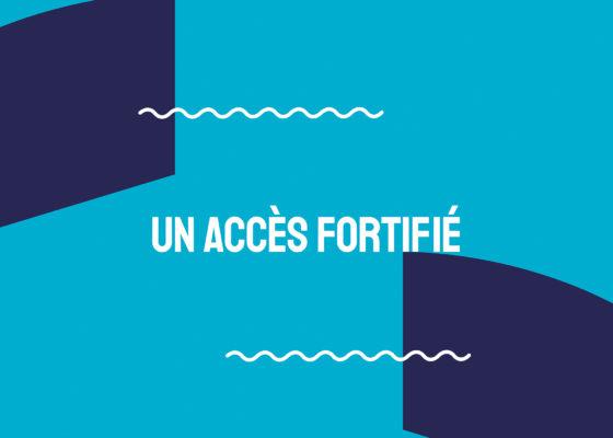 """Ouverture du chapitre """"Un accès fortifié"""", exposition Chronique de la vieille entrée."""