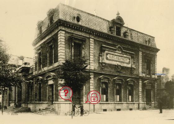 Photo du bâtiment de la bibliothèque et du musée de Saint-Nazaire, vers 1908.