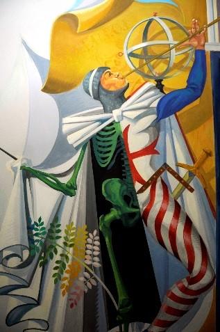 Illustration colorée de loge maçonnique