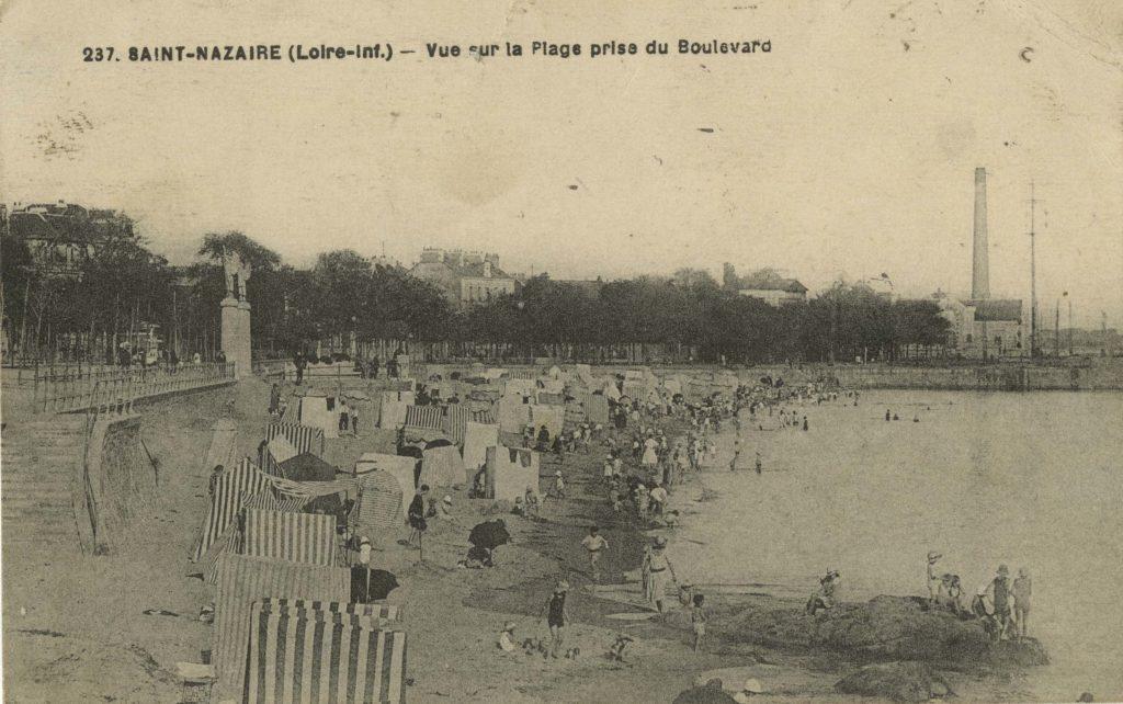 Carte postale sépia de François Chapeau, éditeur de cartes postales